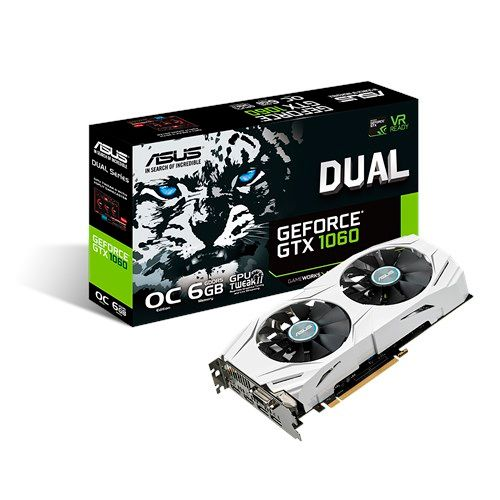 Placa de Video GeForce GTX1060 6GB DDR5 192bits ASUS - ( 2x HDMI / 1x DVI / 2x DisplayPort ) - GTX1060O6G