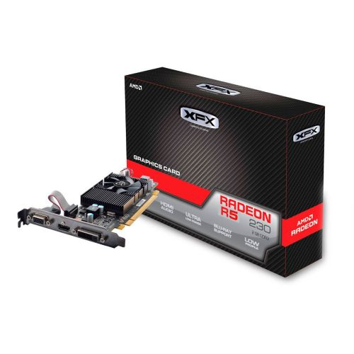 Placa de Video AMD Radeon R5 230 2GB DDR3 128bits XFX - ( 1x DVI / 1x HDMI / 1x VGA ) - R5-230A-CLF2