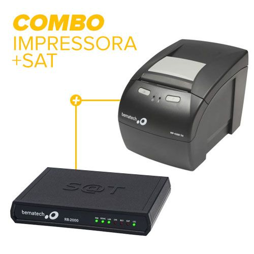 Combo Bematech Impressora MP-4200TH (Guilhotina) + Sat Fiscal RB2000