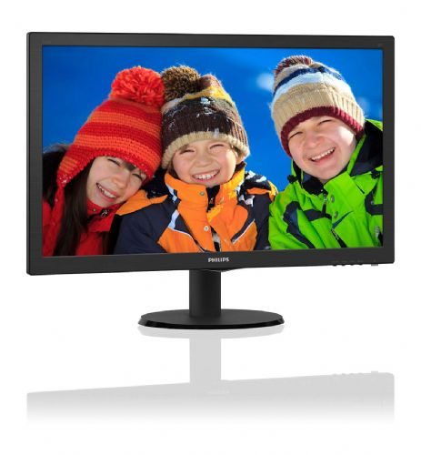 Monitor LED 23.6 Full HD PHILIPS 243V5QHABA/57 1920X1080 5MS ( 1x VGA / 1x DVI-D / 1x HDMI / Alto Falantes Estéreos )