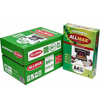 PAPEL SULFITE ALL MAX A4 75G CX COM 5 PACOTES 500