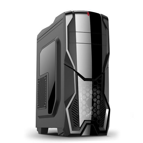 Gabinete NFX Gamer DARKSHIELD Preto (Sem Fonte e Cooler)