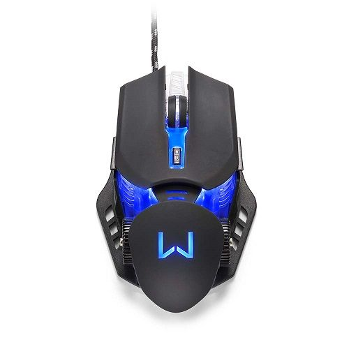 Mouse USB GAMER 3200DPI 7 Botões Preto Warrior Rayner MO267